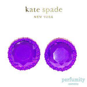 Kate Spade Vintage Violet Stud Earrings Purple NEW